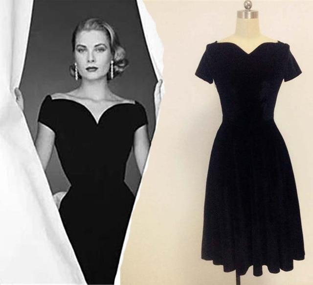 Grace of Monaco Sweetheart Vintage Dresses Vintage retro 50s vestidos  Velvet Classic Audrey Hepburn Lastest 93a5dff09