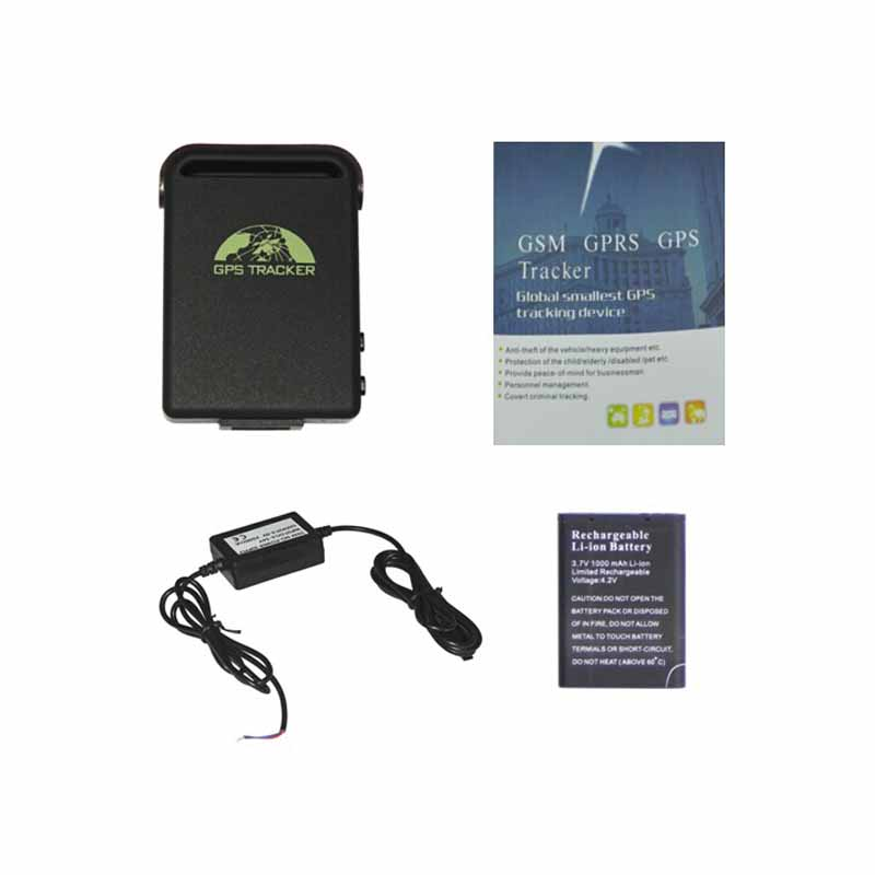 Coban GPS tracker TK102B 4 band gps tracker with 2 wires Car battery charger support