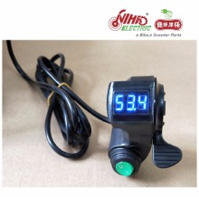 26 E BIKE Thumb Throttle with LCD Digital font b Battery b font Voltage Display and