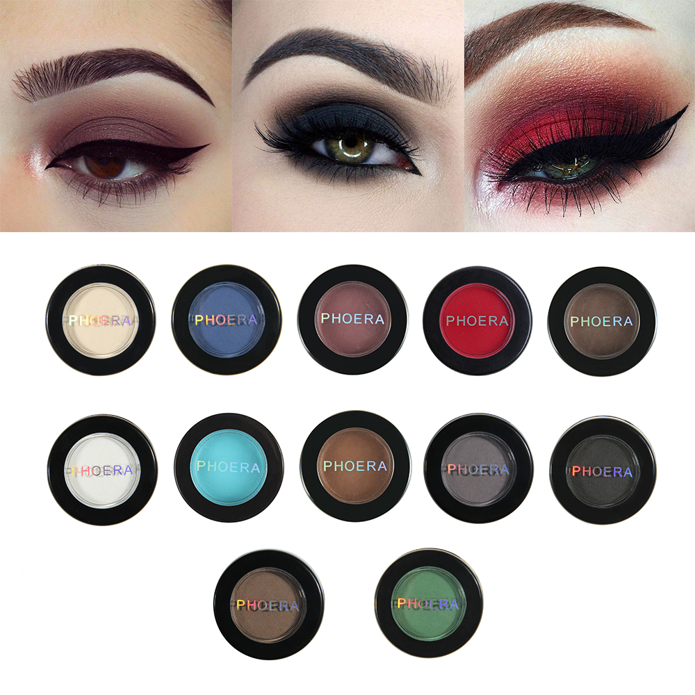 Beauty & Health Beauty Essentials Sporting Phoera Glitter Shimmering Colors Eyeshadow Metallic Eye Cosmetic Metallic Eyeshadow Maquillaje Glitter Eyeshadow #61920 Without Return