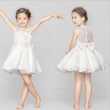 Дети платье белое платье принцессы вечернее платье женские новорожденных девочек
