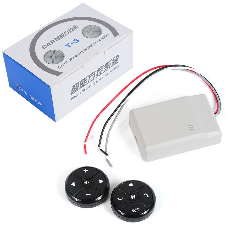 Controlador Universal del volante del coche 4 teclas música inalámbrico DVD GPS volante botón de Control remoto