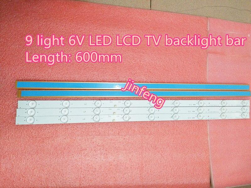 100% NEW9 light 6V LED backlight strip 32 inch general 9 lamp 6V LCD TV lens lamp bar can cut lamp bead.