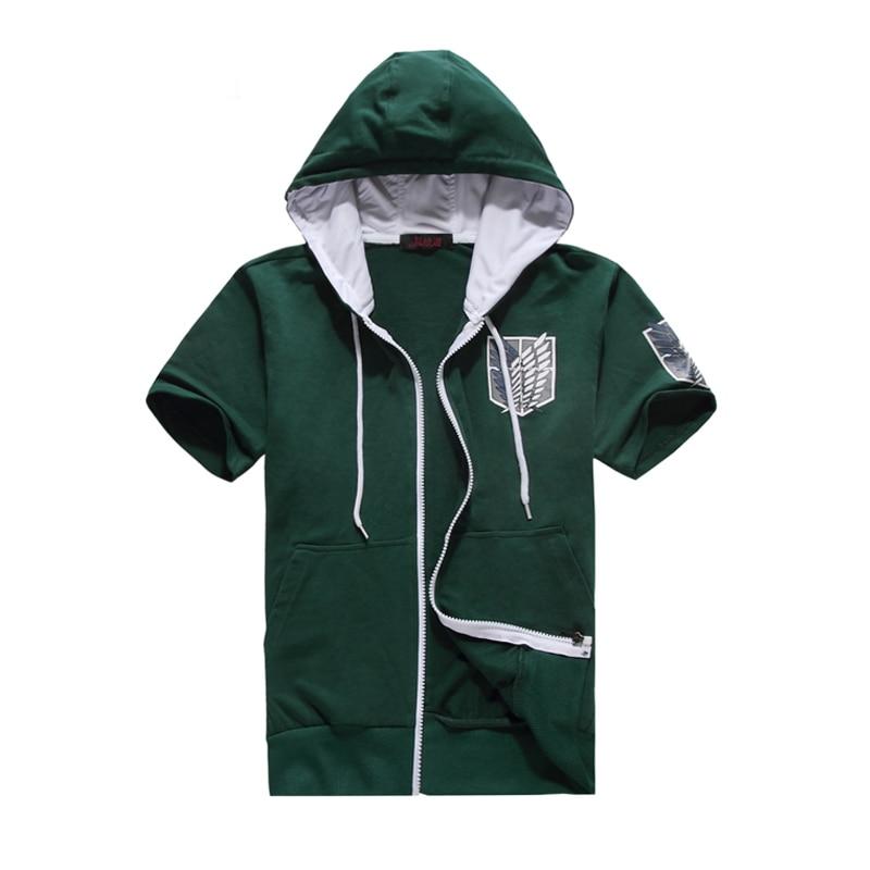 New Animation Attack on Titan T shirt Summer Hooded Coat Hoody Sweatshirt Women Men Shingeki no