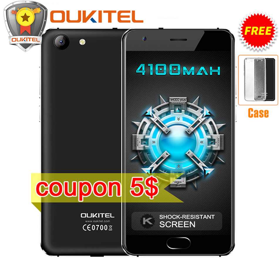 Original Oukitel K4000 Plus MTK6737 Quad Core 1 3GHz Android 6 0 5 0 HD 2GB