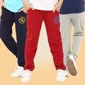 Boy pantalones 100-160 cm boy pantalones niños pantalones de chándal de algodón del otoño del resorte 6-12years niños deportes casual pant boy ropa 3 colores