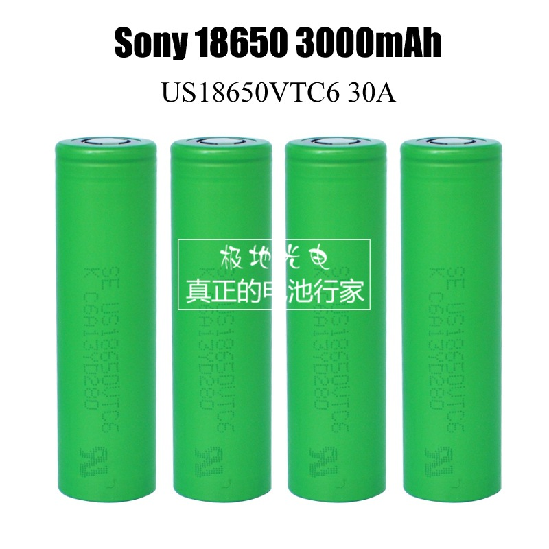 For SONY US <font><b>18650</b></font> <font><b>VTC6</b></font> 30AH Coutinuous discharge 3000mah 3.6V 3.7V Dynamic Lithium-ion Li ion Rechargeable Chargeable <font><b>Batteries</b></font>