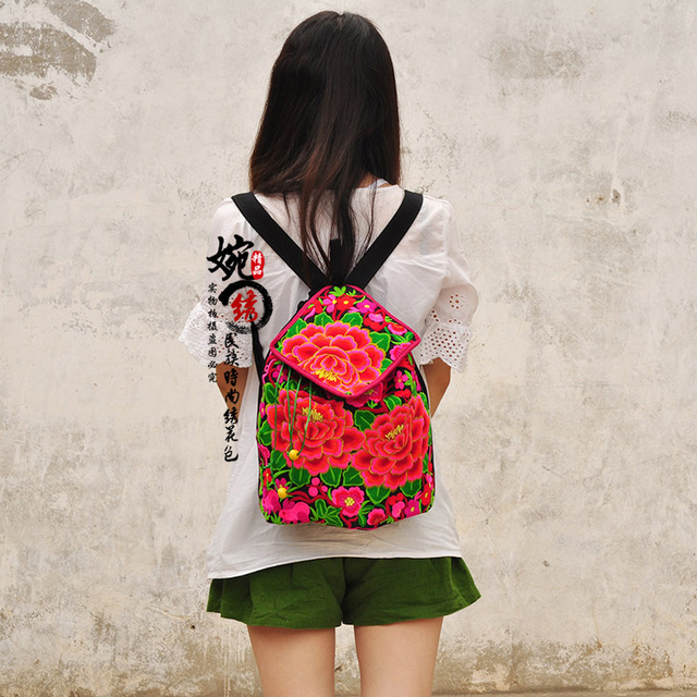 Free Shipping ! Women's bag national trend embroidered bag fabric embroidery vintage cloth fashion travel backpack