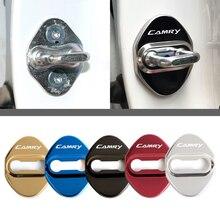 Автомобильный Стайлинг крышки замка для Toyota camry 40 50 2007 2008 2009 защитные и декоративные автомобильные аксессуары наклейка