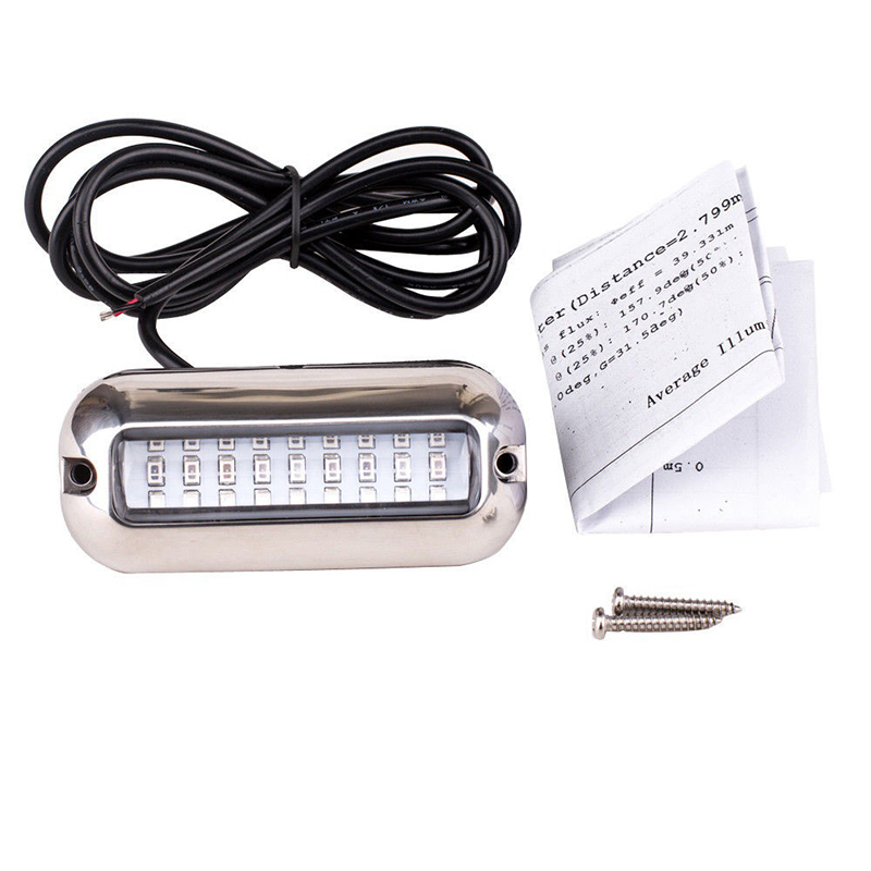 27 LED 3.5 W Underwater Pontoon Boat Transom Light 12V White Blue Marine Boat Light Waterproof-in Marine Hardware from Automobiles & Motorcycles