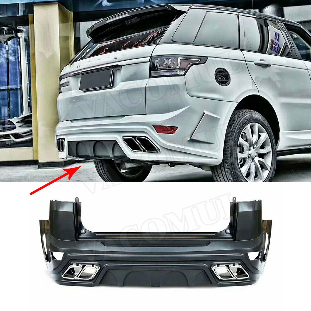 2pcs Cars Rear Bumper Wheel Eyebrow Trims Fit For Land Rover Evoque 2016-2017