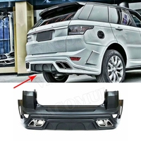 PP Material Body Kits Rear Bumper Lip Diffuser With Exhaust Muffer Tips for Land Rover Range Rover Sport RRS 2014 2015 2016