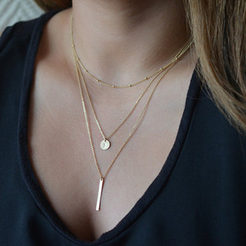 2016-Womens-Fashion-Jewelry-Colar-1pc-European-Simple-Gold-Silver-Plated-Multi-Layers-Bar-Coin-Necklace-Clavicle-Chains-Charm-1