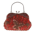 Fashion Handmade Retro Craft Women Evening Bag Exquisite Beaded Embroidery Butterfly Ladies Handbag 7494  Multi-color