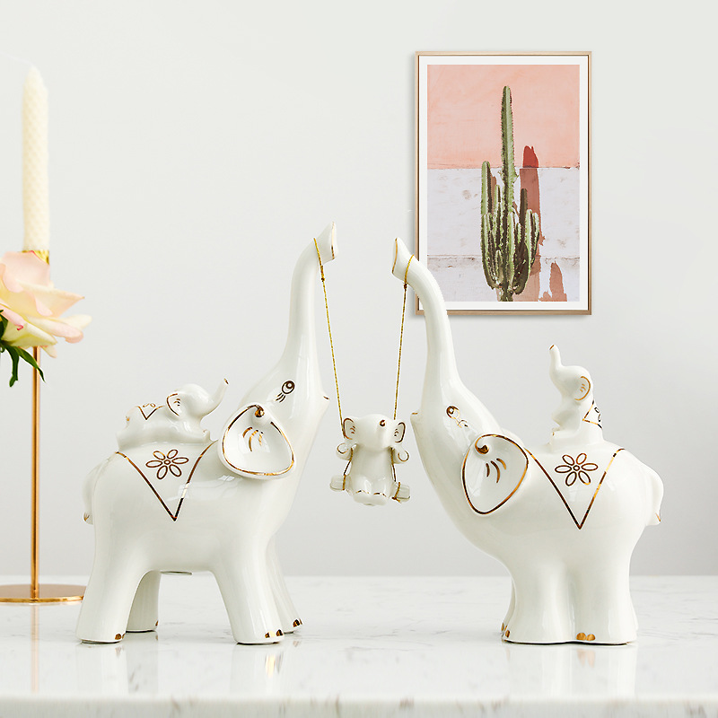 Elephant Ornaments European Cute and Interesting Creative Practical Living Room TV Cabinet Wine Cabinet DecorationsElephant Ornaments European Cute and Interesting Creative Practical Living Room TV Cabinet Wine Cabinet Decorations