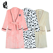 Bathrobes Women Robe Autumn Winter Warm Thick Long Sleeve Flannel Female Sleepwear Lounges casual Homewear Pyjamas XXXL hwr