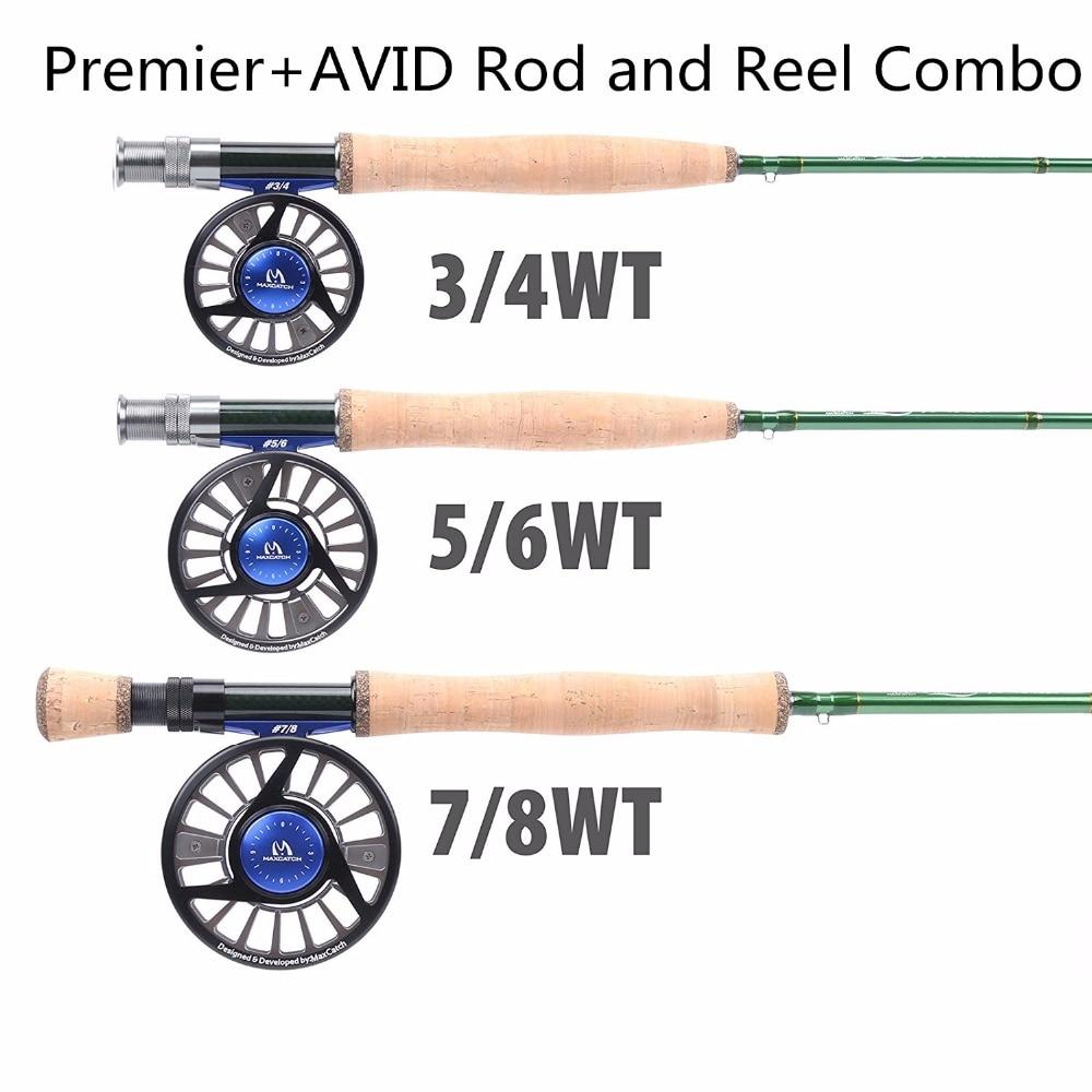 Maximumcatch Fly Fishing Rod Combo Fly rod+fly reel 3/4,5/6,7/8wt Graphite Fly Rod Combo 8wt fly rod and reel combo 7 8wt aluminum fly reel fly fishing outfit
