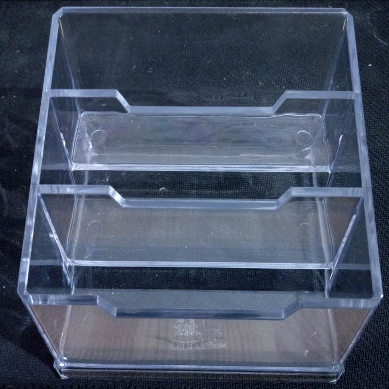 Three Style Pocket Display Stand Acrylic Plastic New Clear Desktop Business Card Holder Desk Shelf Box Storage-in Card Holder & Note Holder from ...