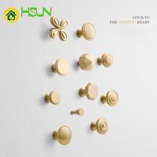 Wardrobe Cupboard Drawer Cabinet Northern Europe Solid Golden Foramina Singulare Hand Modern Concise Brass Handle