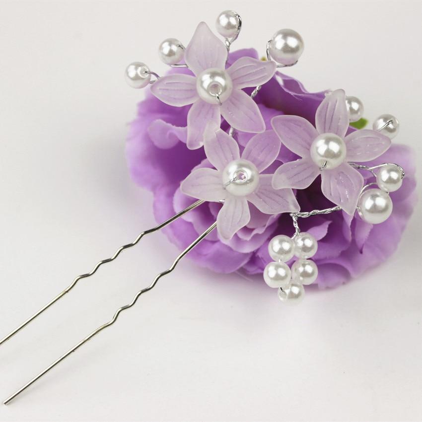1Pc Wedding Bridal bridesmaid Pearl Flower Headpiece Hair Pin Hairpins