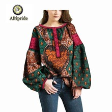 2019 african coats for women AFRIPRIDE pure cotton bazin riche ankara print private custom wax batik lace coat o-neck  S1824012