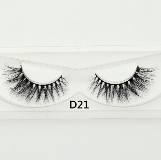 Visofree False Eyelash  Natural 100% Handmade Black False Eyelashes Extension Sexy Soft Eye Lashes  Mink False Eyelashes D21