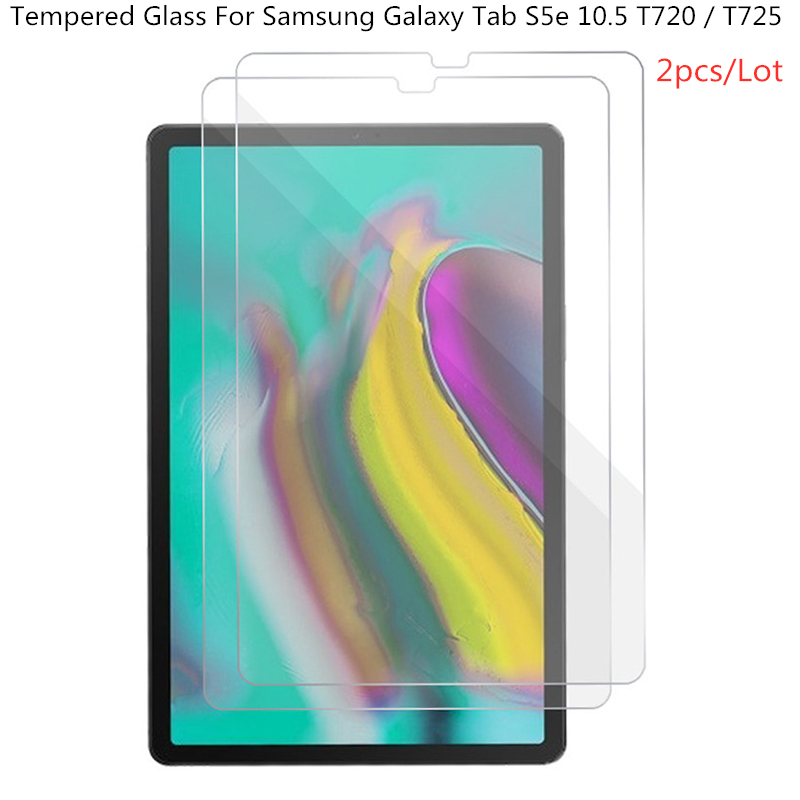 2pcs 0.3mm 9H Transparent Screen Protector For Samsung Galaxy Tab S5e 10.5 T720 T725 SM-T720 SM-T725 Tempered Glass Film