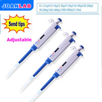JOANLAB Single Channel ด้วยตนเองปรับ TopPette Pipette Pipettor Pipetaz lab Pipette Transfer