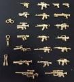 22 pcs pogo série militar armas bricks brinquedos soldado do exército dourado ak arma shotgun polícia compatível