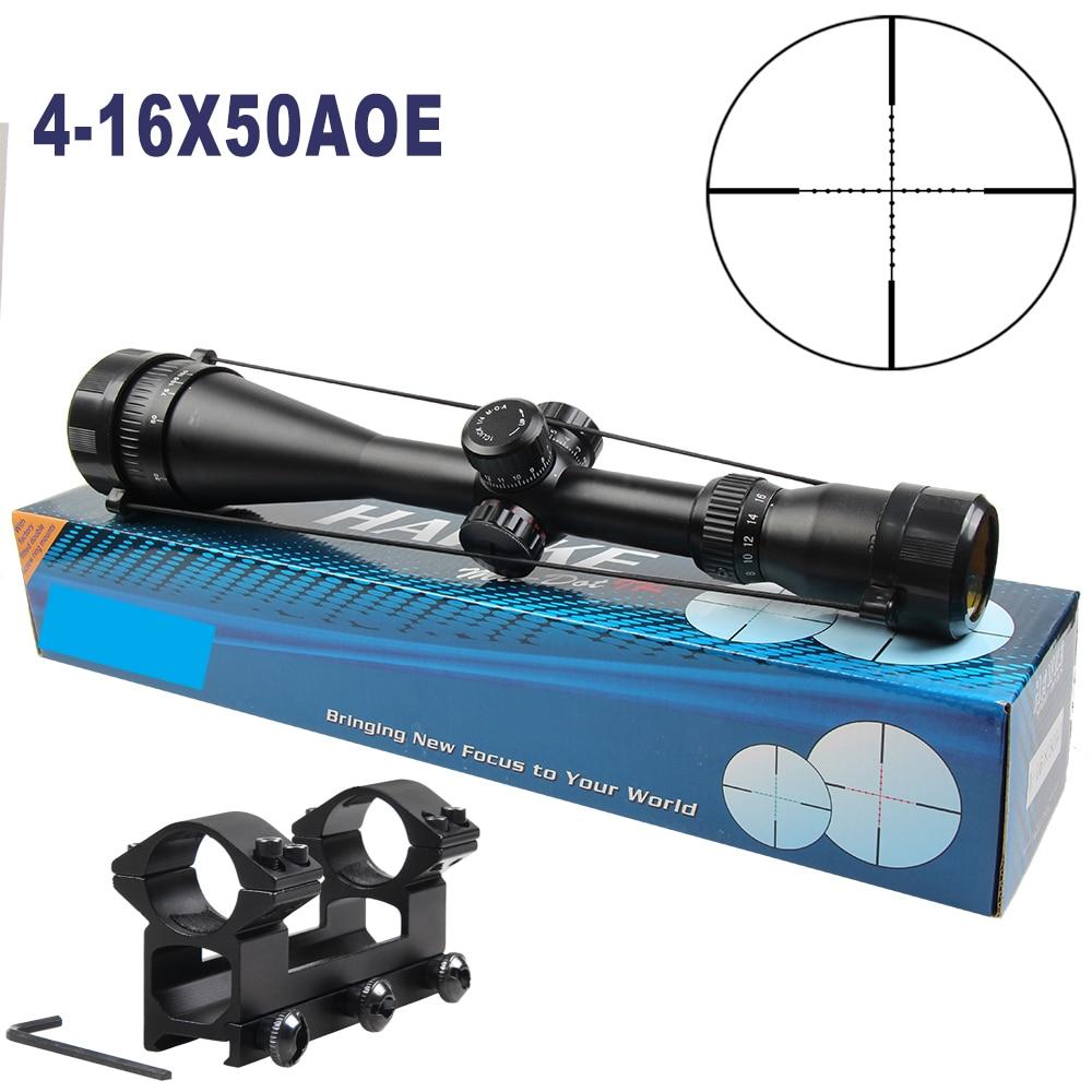 HAWKE Sport 4-16x50 AOE Riflescope R & G Riflescope Reticle Rifle Sniper Scope For Hunting hawke sport 3 12x50 aoe riflescope r