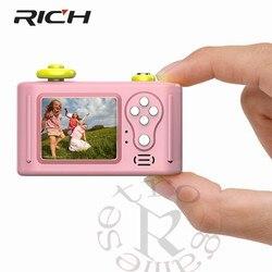 Mini LSR Cam aparat cyfrowy 1.5 Cal 2MP 1080P dla dzieci Baby Cute zabawka z kreskówki aparat prezent urodzinowy dla dzieci