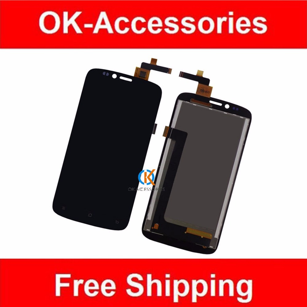 ФОТО For Archos 53 Platinum LCD Display+Touch Screen Digitizer Assembly Black Color 1PC/Lot