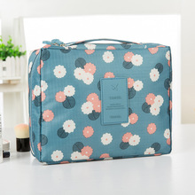 QIUYIN Portable Square Storage Bag Wholesale Custom Travel Wash Waterproof Cosmetic Ladies Makeup