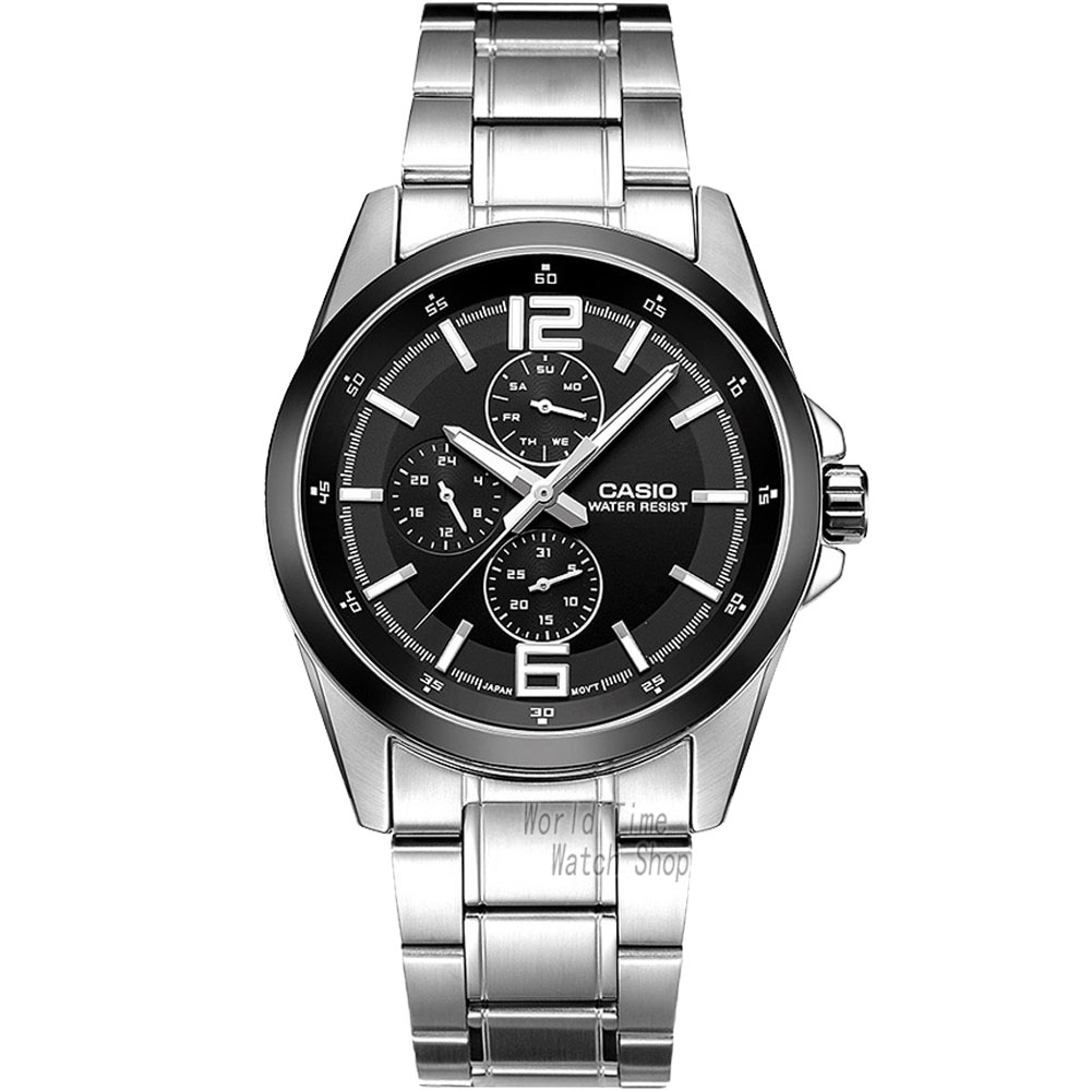 Casio watch Fashion leisure three watches quartz male watch MTP-E306D-1A MTP-E306D-5A MTP-E306L-7A MTP-E307D-1A MTP-E307D-2A casio mtp e306l 7a