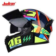 JIEKAI Motorcycle Helmet Motorbike Racing Capacetes De Motociclista Helmets Full Face Casco Moto Helmet Casque Moto Double Lense