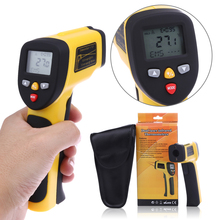 Buy online -50~1050C Non-Contact Digital IR Infrared Thermometer 0.1-1EM LCD 4 Buttons Handheld Temperature Meter Tester Laser Gun