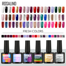 Rosalind Gel Cat Kuku Warna Segar Semi Permanen UV Rendam Off Gel Varnish Putih Manikur Kuku Seni Hybrid Kuku Gel bahasa Polandia(China)