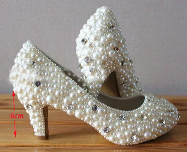 2016 New Luxury Fashion font b Shoes b font for wedding ceremony luxury Rhinestone Pearl Wedding