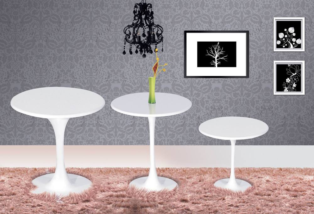 Tulip Table Round Coffee Table Small Round Table Glass Table Tulip Table 50/ 60 ...