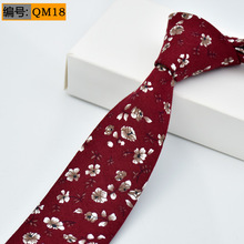 6cm 2017 New Men Slim Flower Ties 100% Cotton Fashion Casual Designer Brand Wedding Floral Neckties