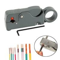 1 pc descascamento automático multi ferramenta stripper cabo de fio ajustável lâminas duplas rg6/59 combinação cortador alicates frete grátis Alicates     -