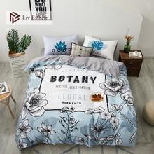 Liv-Esthete Wholesale Fashion Floral 100% Cotton Bedding Set Decor Duvet Cover Pillowcase Flat Sheet Double Queen King Bed