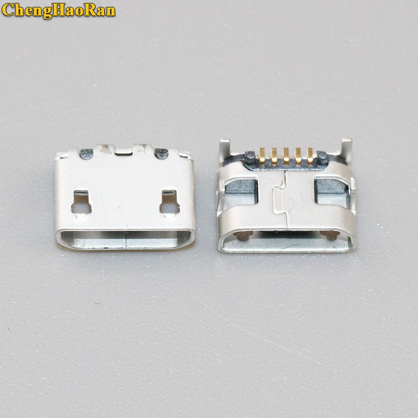 ChengHaoRan <font><b>50</b></font>-500PCS Charging port Micro <font><b>USB</b></font> Socket Connector 5P <font><b>5pin</b></font> Mini <font><b>USB</b></font> <font><b>jack</b></font> charge plug Big Ox horn image