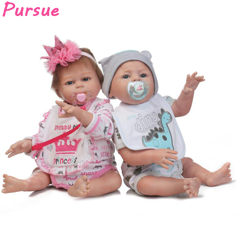 "Pursue 20""/50cm Cute Twin Reborn Full Body Silicone Reborn"