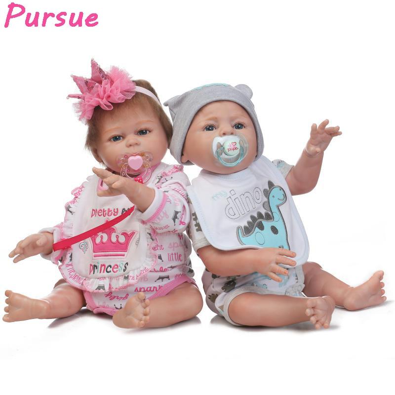 Pursue 20 Quot 50cm Cute Twin Reborn Full Body Silicone Reborn