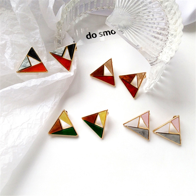 fashionable earrings Fashion trend Ms decoration earrings Colourful matching earrings Geometric accessories wholesale earrings