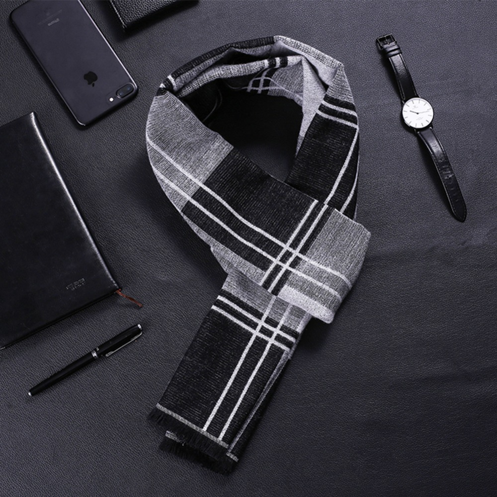 New Winter Scarf Scarves Cashmere Wool Woolen Best Gift for Men Male Double Sides Scarves Long Shawl Wrap Luxury Fashion Scarf