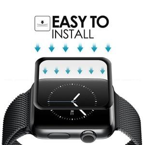 Image 4 - 10 PCS 3D Gebogen Volledige Dekking Gehard Glas Voor Apple Horloge Serie 1/2/3 42mm Screen protector iWatch Beschermende Film