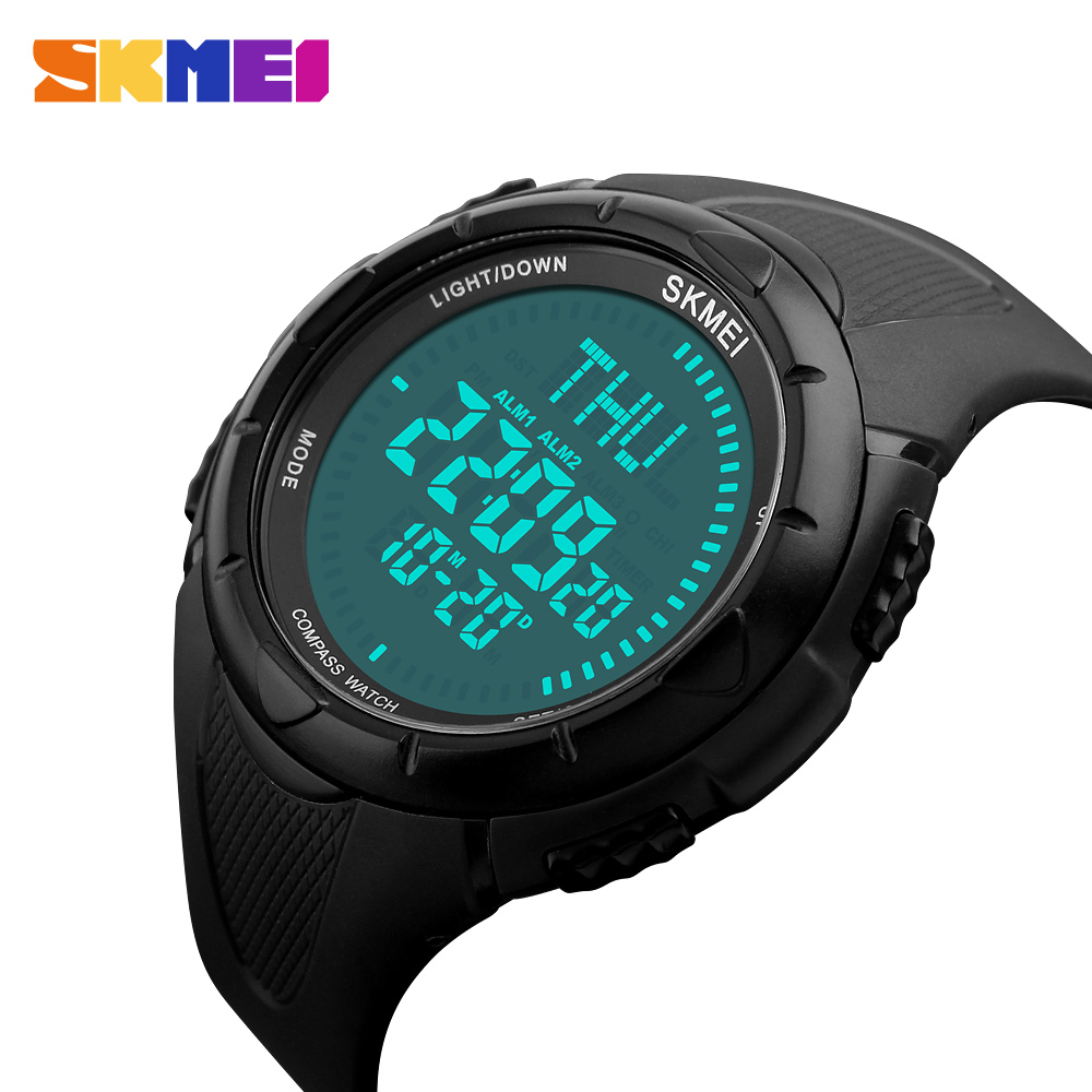 Watch Men Gift Military Compass Countdown Watches Digital LED Running Climbing wristwatch SKMEI Digital Watches Men Sports watch