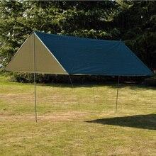 3 м x 3 м водонепроницаемый солнцезащитный тент брезент анти УФ Пляжная палатка тент Открытый Кемпинг гамак дождевик Кемпинг тент навес